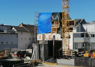 Baufortschritt des Wohnbauprojekts am Raiffeisen Quartierplatz Schwaz - 25.03.2020