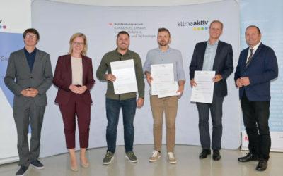 Klimaaktiv Bronze-Auszeichnung für das Doppelhaus Witting in Wattens