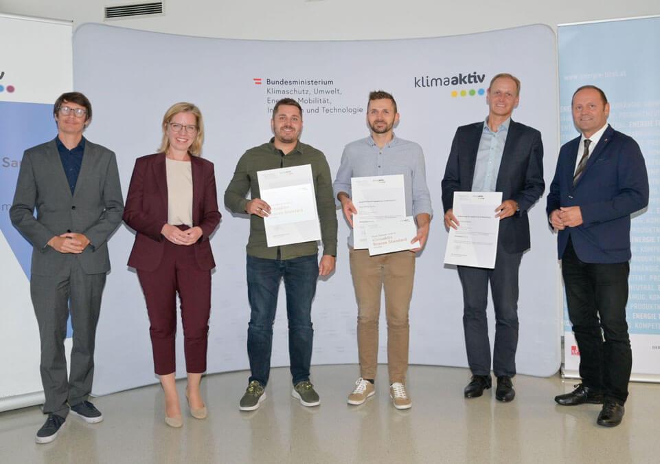 Klimaaktiv Auszeichnung Doppelhaus Witting